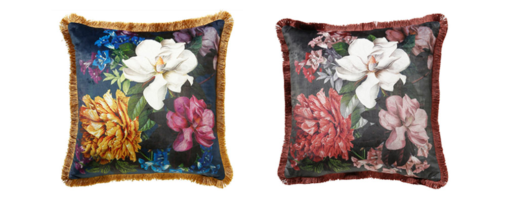Funky floral cushions