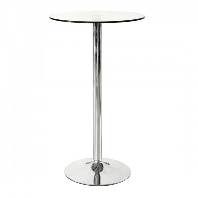 Glass Circular Poseur Table