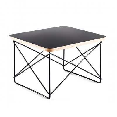 Black Leather Style Coffee Table