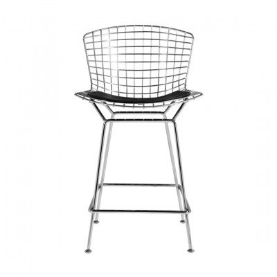 Harry Bertoia Inspired Stool Black