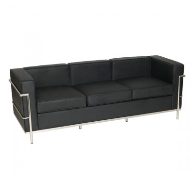 Black Corbusier 3 Seat Inspired Sofa