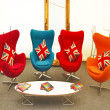 Colourful Egg chair hire