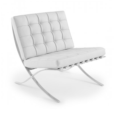 White Barcelona Style Chair Hire