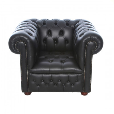 Black Chesterfield Inspired Armchair