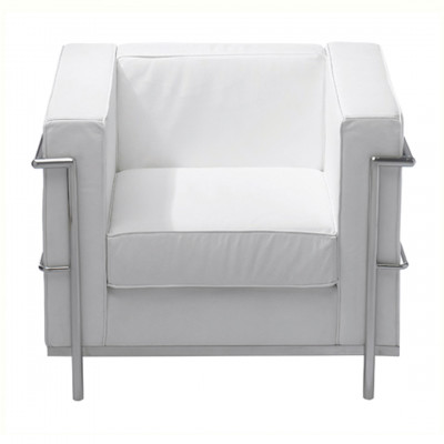 White Corbusier Inspired Armchair