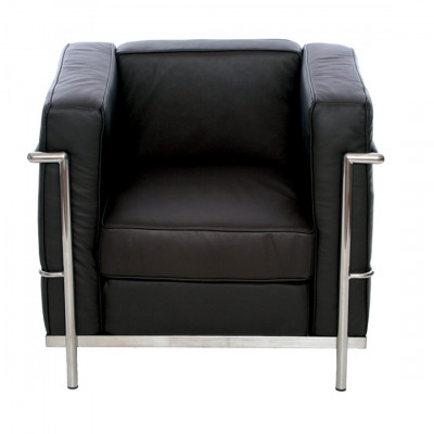 Black Corbusier Inspired Armchair