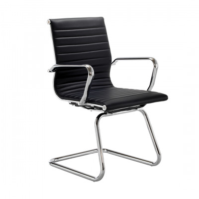 Black Ribbed Back Cantilever Chair Hire