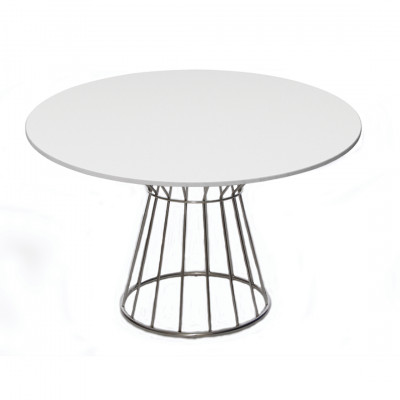 White Wire Dining Table