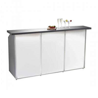 3 Bay White Porta Bar Hire