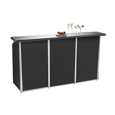 3 Bay Black Porta Bar Hire
