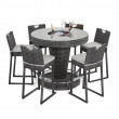 Ibiza Rattan Poseur Table Set Hire