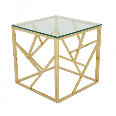Gold Malibu Cube Coffee Table
