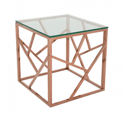 Rose Gold Malibu Cube Coffee Table