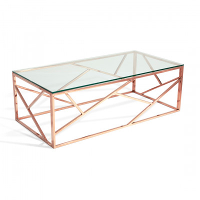 Rose Gold Malibu Coffee Table