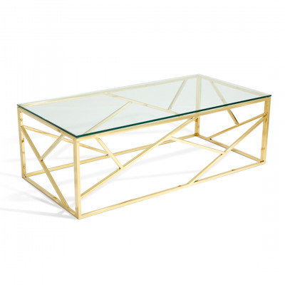 Gold Malibu Coffee Table