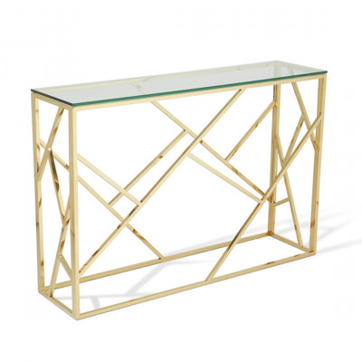 Gold Malibu Console Table