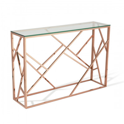 Rose Gold Malibu Console Table
