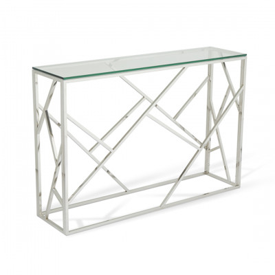 Silver Gold Malibu Console Table