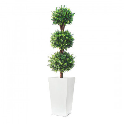 7ft Artificial Deluxe Triple Buxus Planter