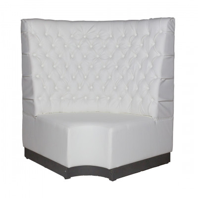 White Leather Booth Seating - Corner Section