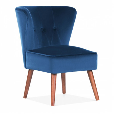 Royal Blue Dallas Velvet Cocktail Chair
