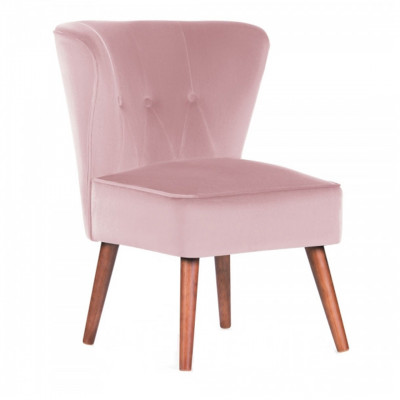 Pink Dallas Velvet Cocktail Chair