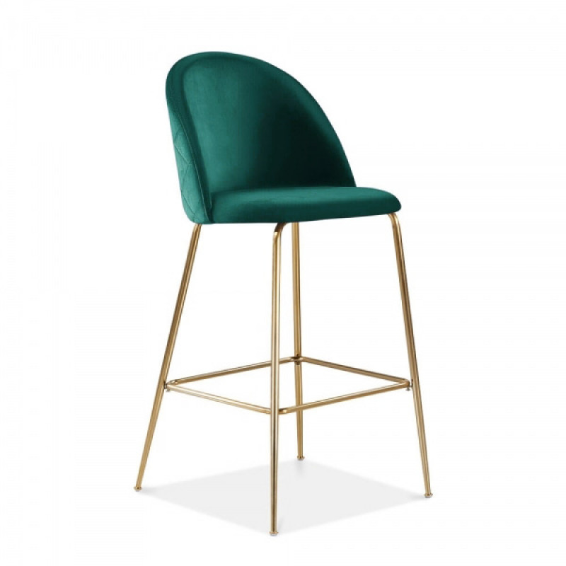 Milan Velvet Bar Stool Green Velvet Bar Stool Hire