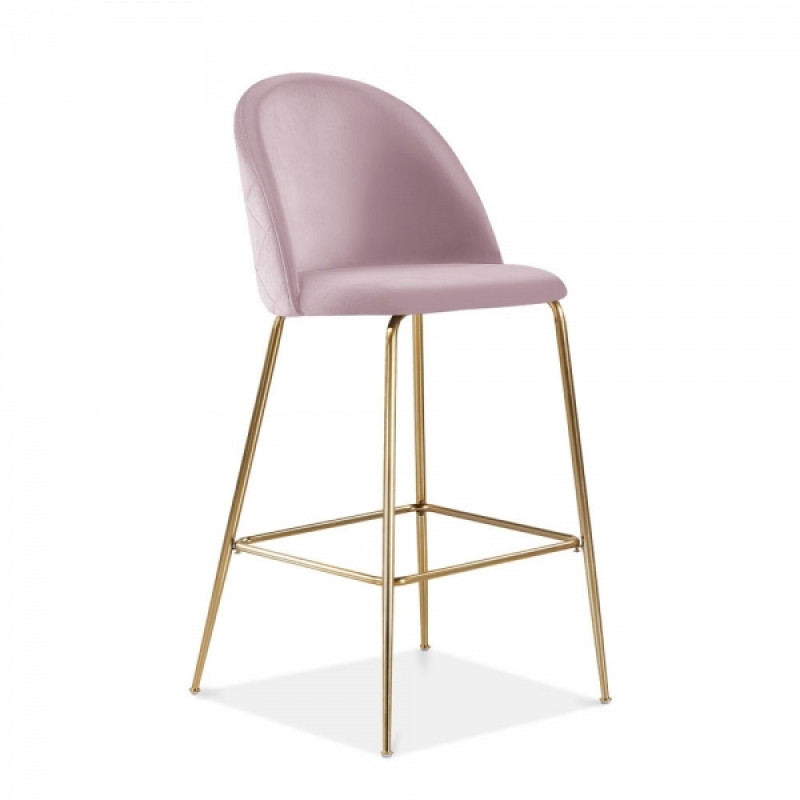 Baby Pink Milan Velvet Bar Stool Hire Hire Bar Stools