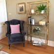 Gold Malibu Bookcase