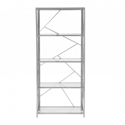 Silver bookcase hire