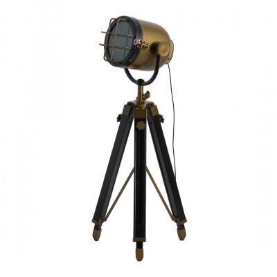 Brass Industrial Spotlight Lamp