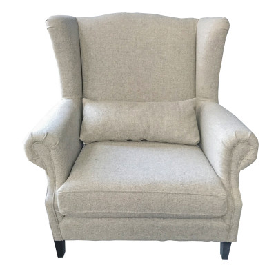 Manhattan Grey Tweed Armchair