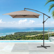 Square outdoor parasol
