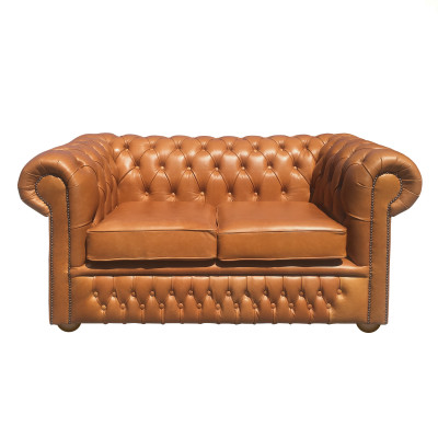 Tan Leather 3 Seat Sofa
