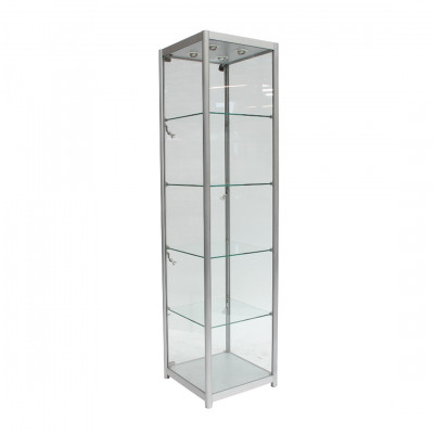 Glass Tallboy Exhibition Cabinet