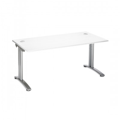 White Rectangle Desk Hire
