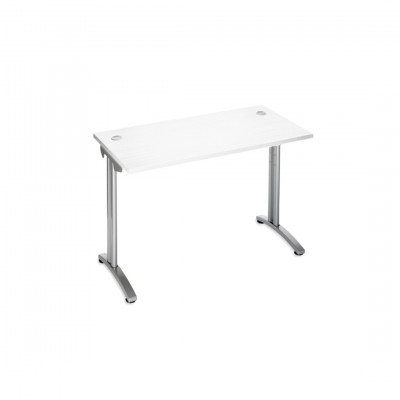White Return Desk Unit Hire