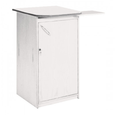 White Exhibition Plinth with Shelf Hire