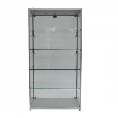 Tall Glass Showcase Cabinet Hire
